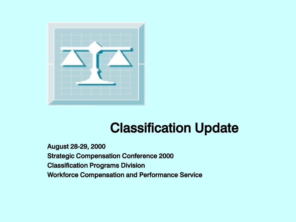 classification update l.