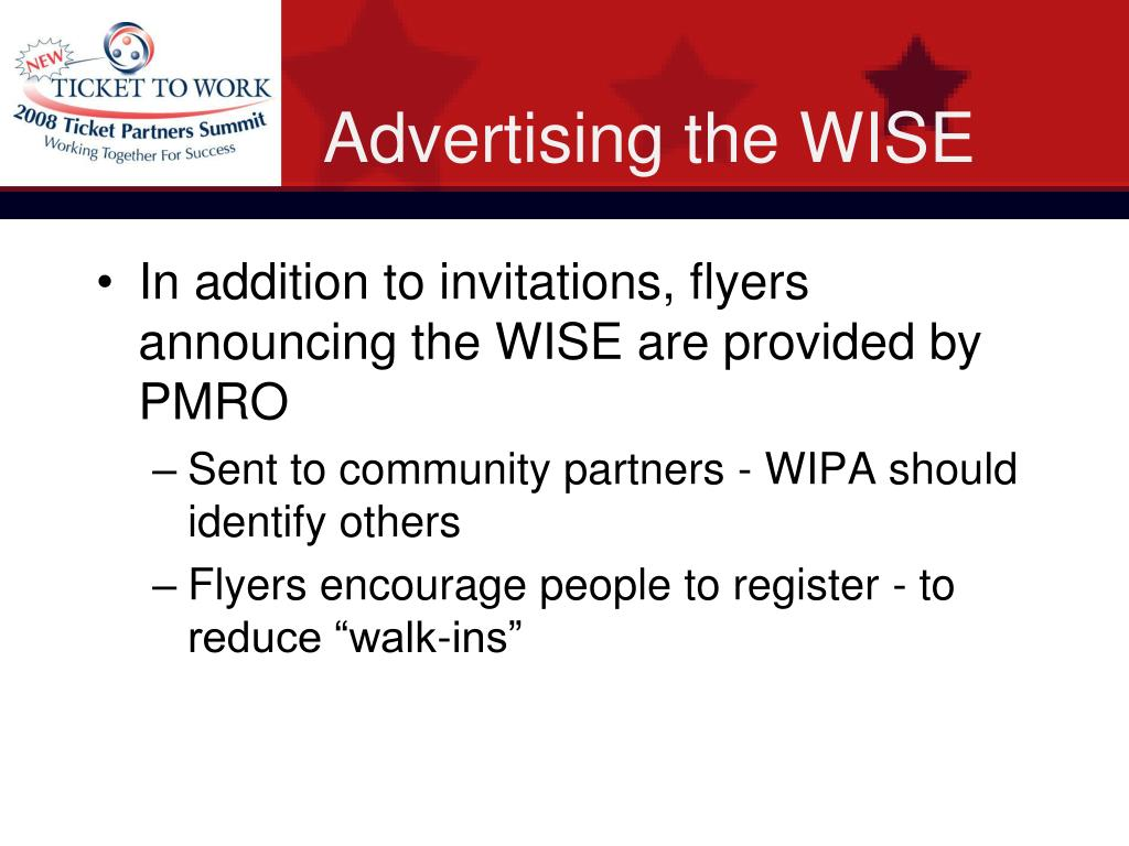 Advertising the WISE