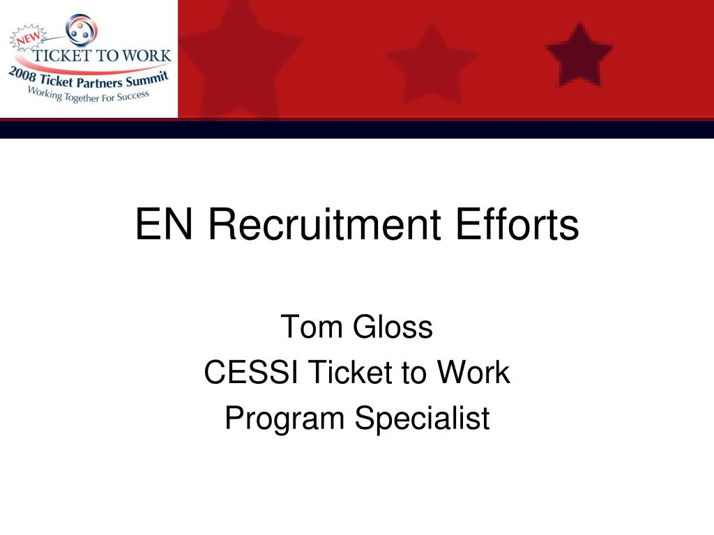 EN Recruitment Efforts