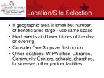 location site selection20