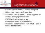 logistics invitations