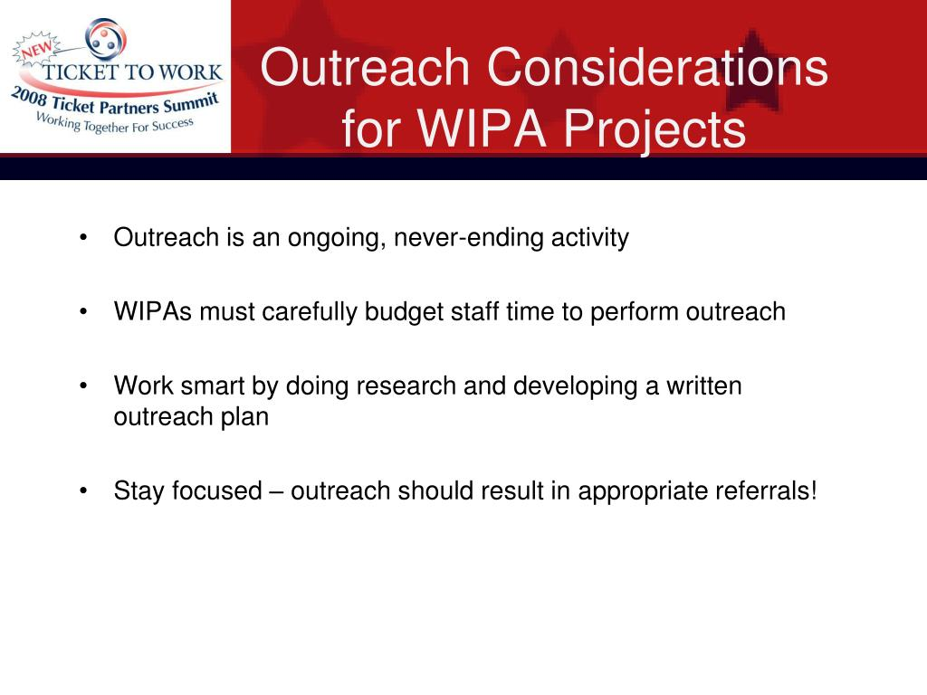 Outreach Considerations