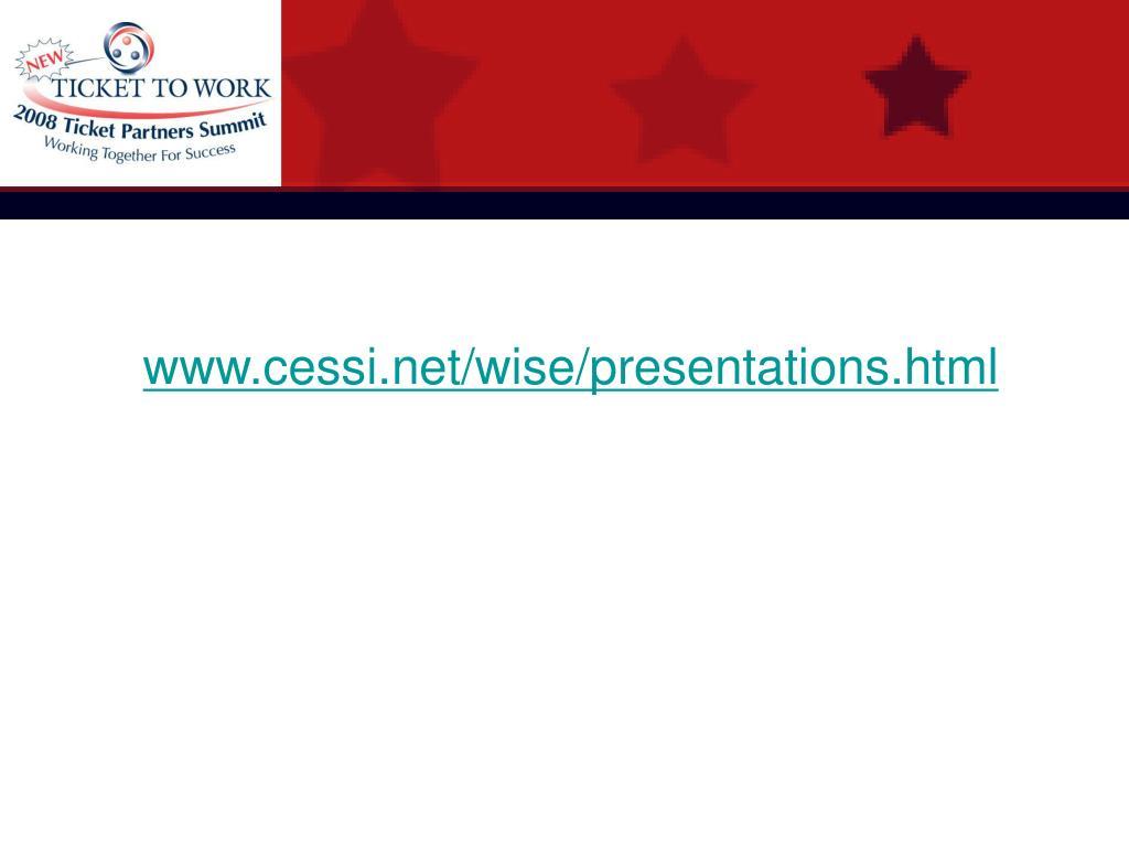 www.cessi.net/wise/presentations.html