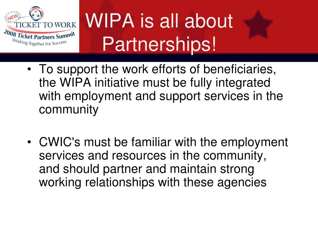 WIPA is all about Partnerships!