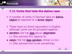 7 11 verbs that take the dative case