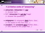 7 12 dative verbs of answering