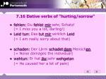 7 16 dative verbs of hurting sorrow