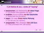7 24 dative acc verbs of saying