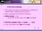 7 26 case endings
