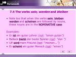 7 4 the verbs sein werden and bleiben