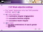 7 47 weak adjective endings