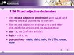 7 56 mixed adjective declension