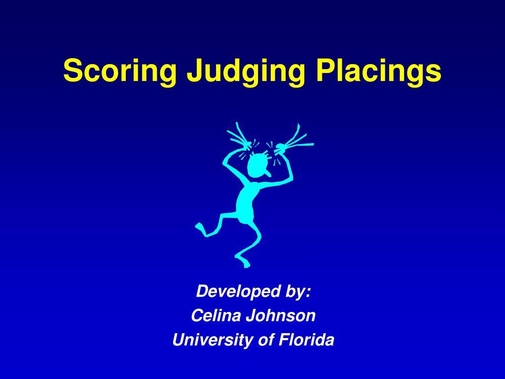 scoring judging placings l.