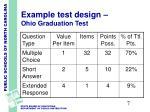 example test design ohio graduation test