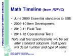 math timeline from r2f4c