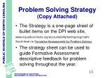 problem solving strategy copy attached