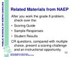 related materials from naep