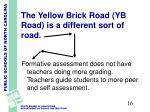 the yellow brick road yb road is a different sort of road