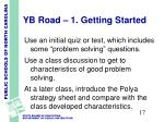 yb road 1 getting started