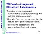yb road 4 ungraded classroom assessments