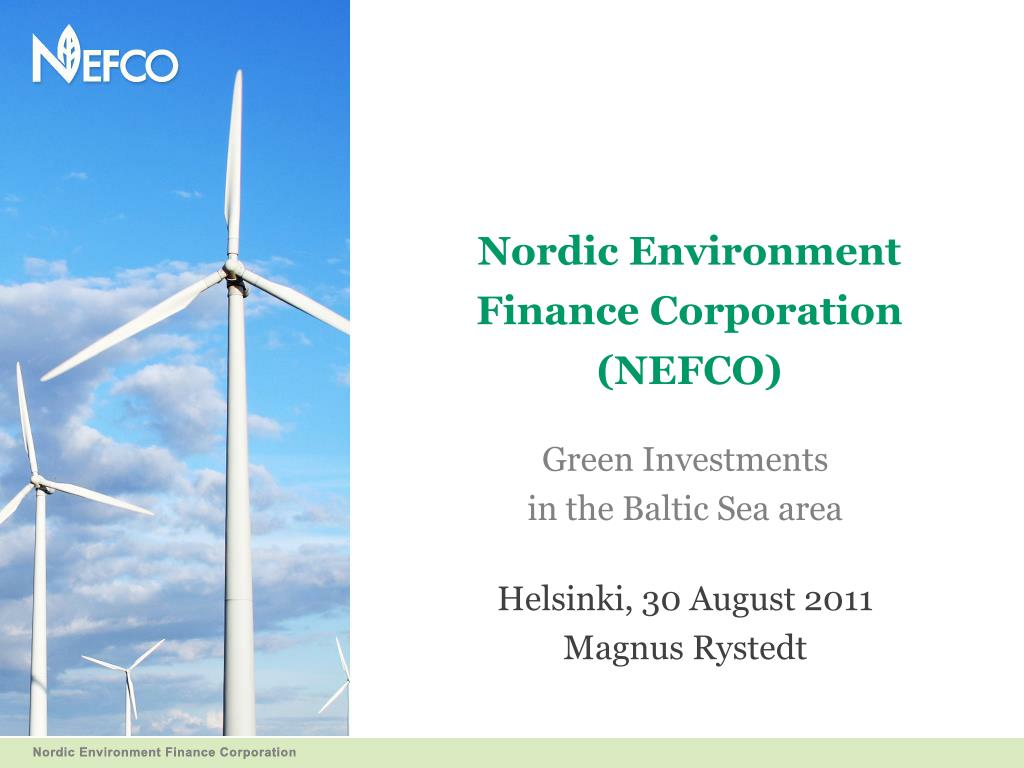 nordic environment finance corporation nefco l.