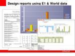 design reports using e1 world data