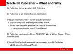 oracle bi publisher what and why