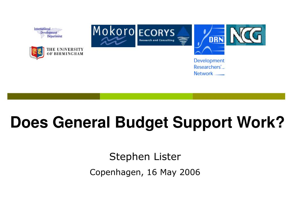 does general budget support work