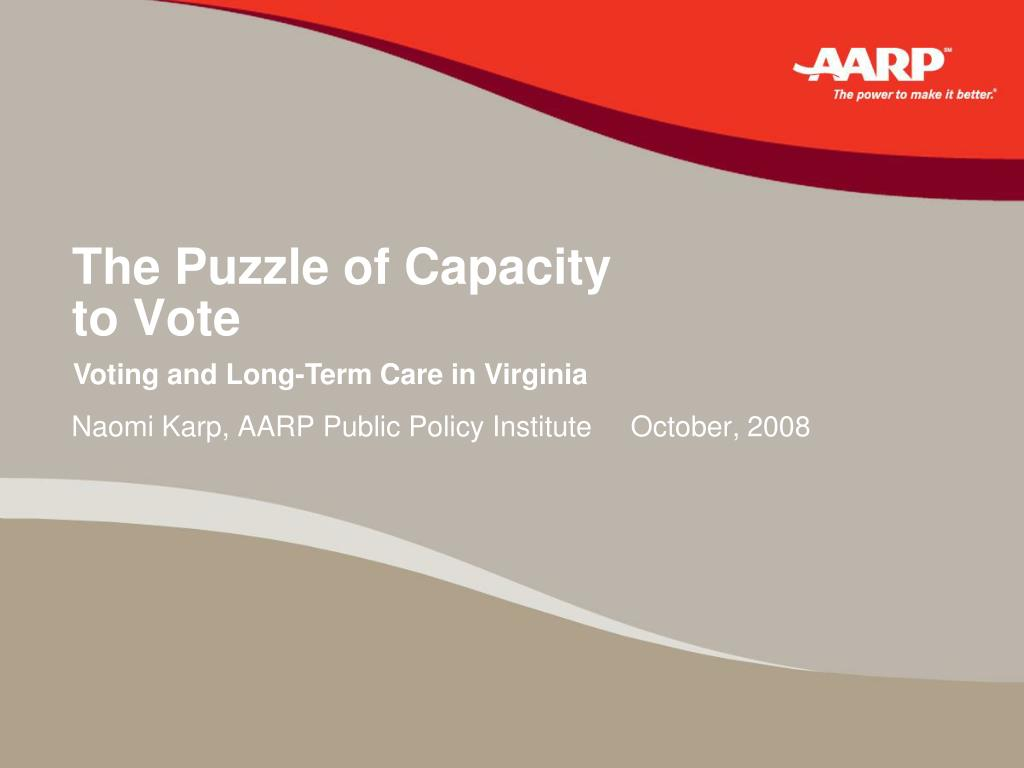 the puzzle of capacity to vote l.