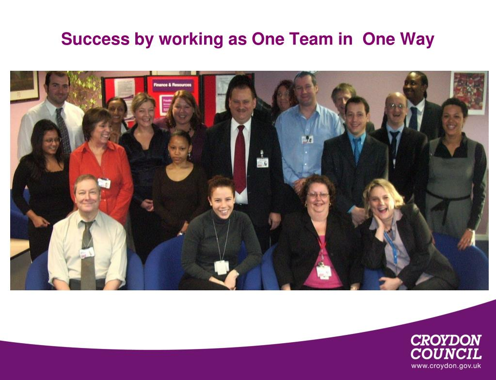 Success by working as One Team in  One Way