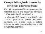 compatibiliza o de tramos da s rie com diferentes bases221