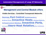 management and control module offers
