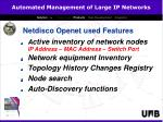 netdisco openet used features