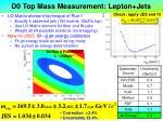 d0 top mass measurement lepton jets