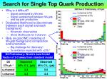 search for single top quark production