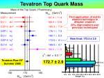 tevatron top quark mass