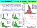 top quark mass in situ jet energy calibration
