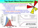 top quark mass reconstruction