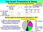 top quark production decay6