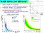 what does cdf observe