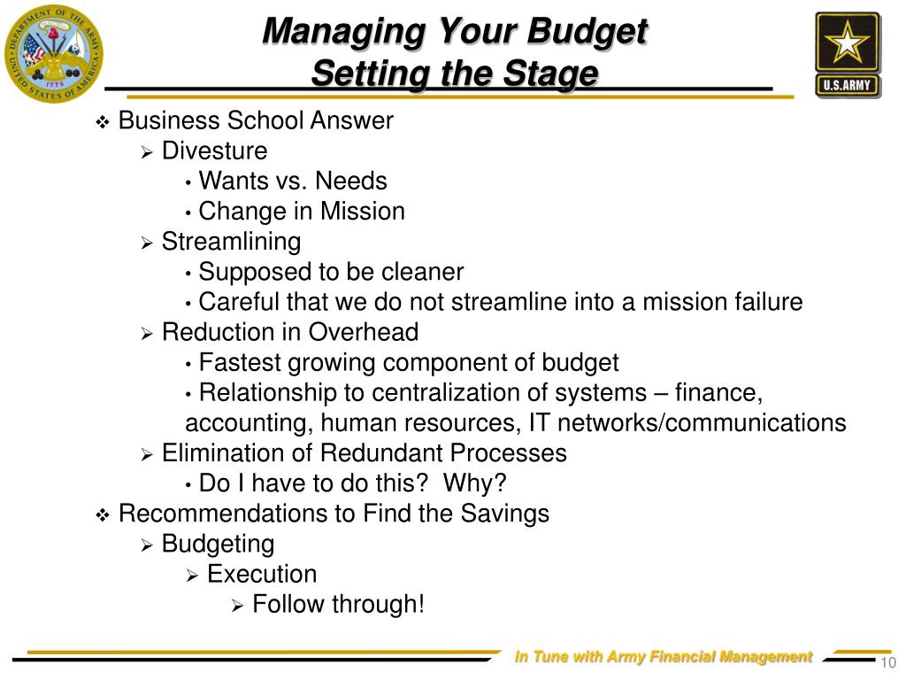Managing Your Budget