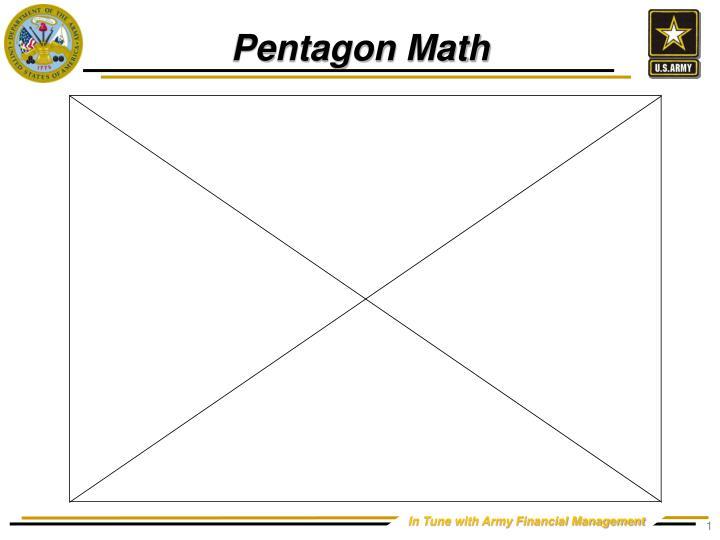 Pentagon math