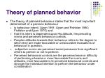 theory of planned behavior24