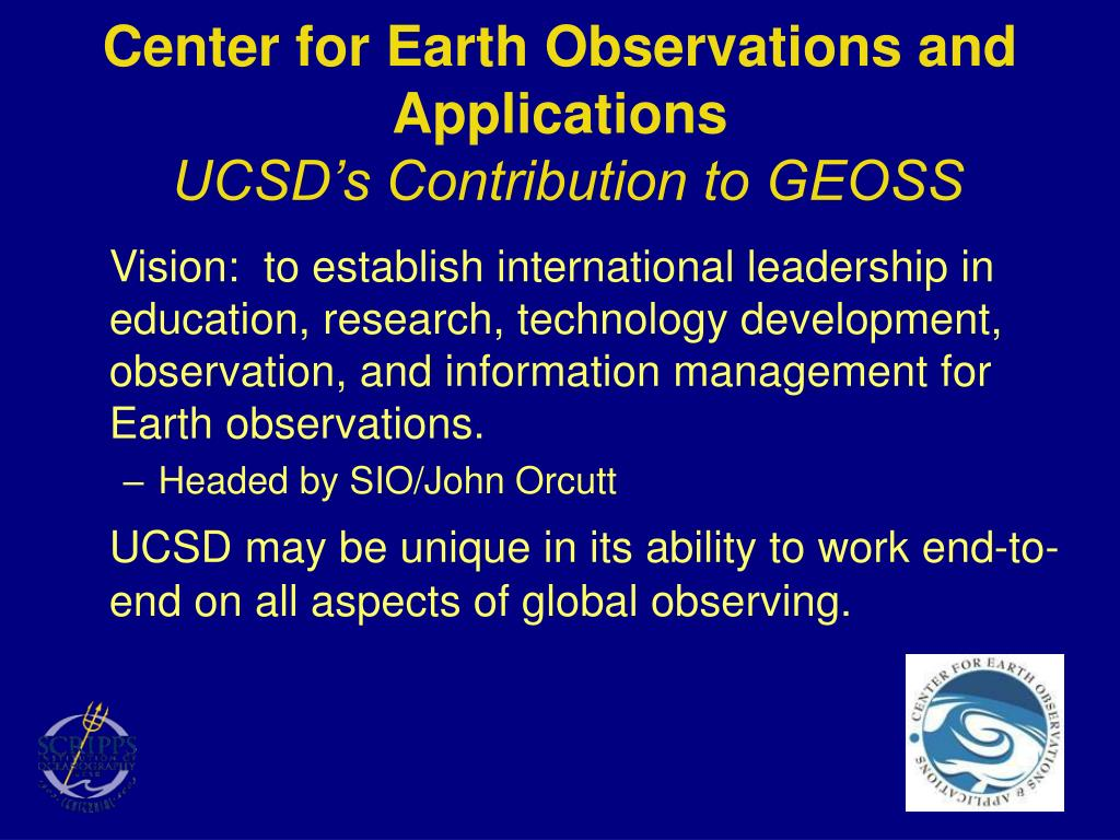 Center for Earth Observations and Applications