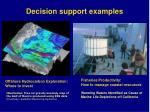 decision support examples