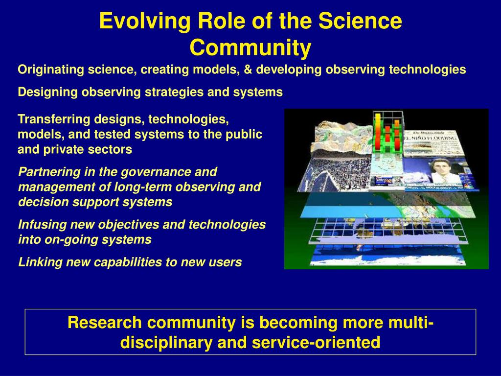 Evolving Role of the Science Community