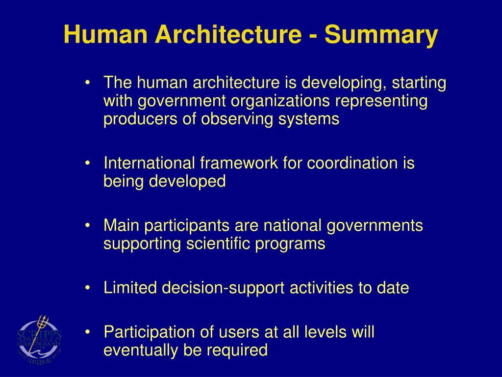 Human Architecture - Summary