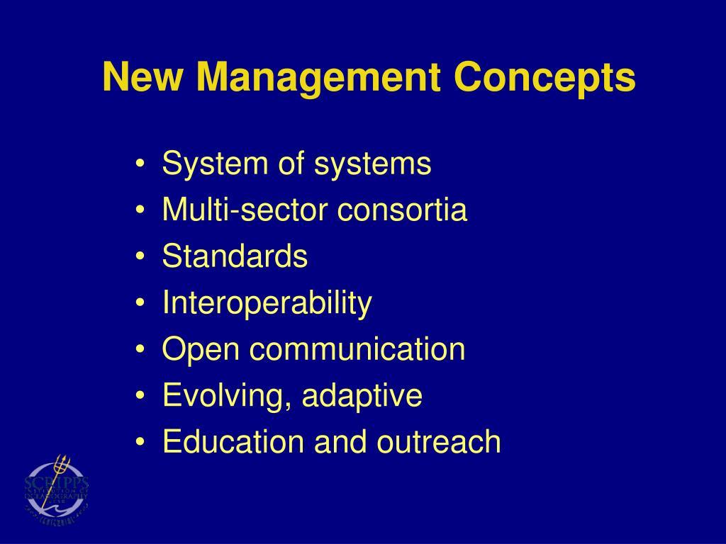 New Management Concepts