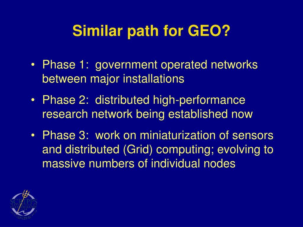Similar path for GEO?