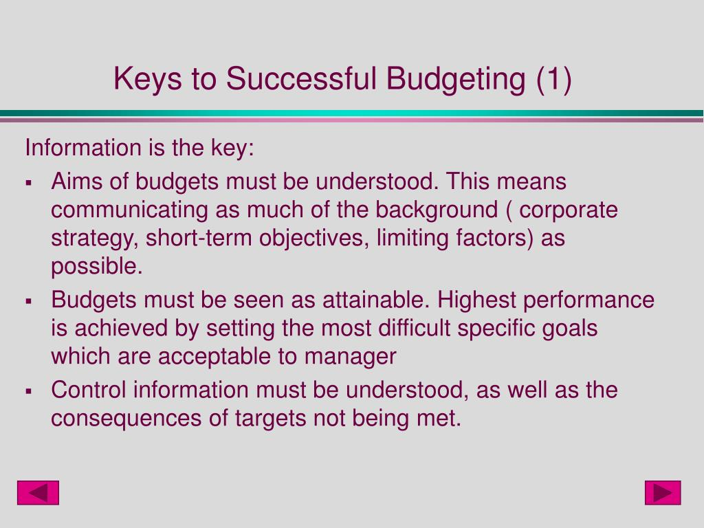 Keys to Successful Budgeting (1)